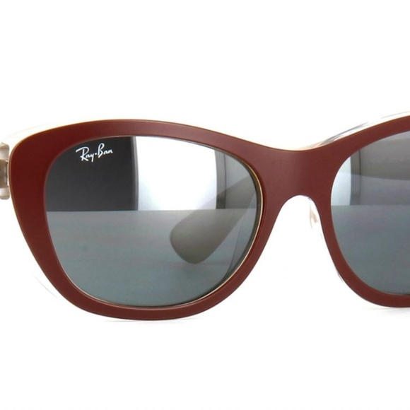 01fef836e3 Ray-Ban RB4227 Matte Brown Mirrored Sunglasses